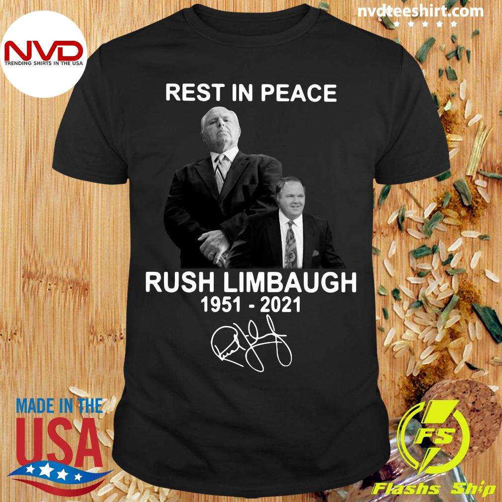 Official Rest In Peace Rush Limbaugh 1951 2021 Signature T-shirt