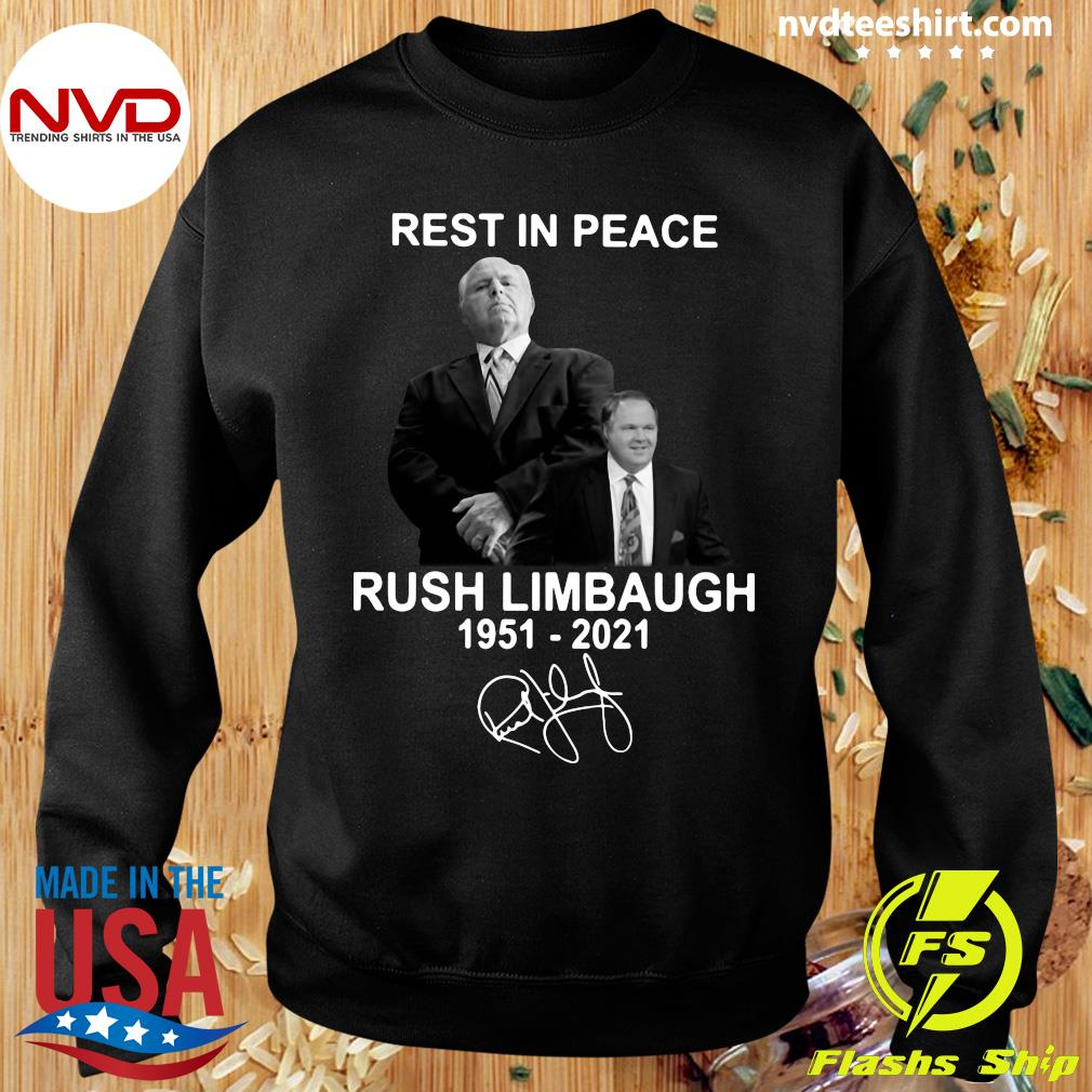 Official Rest In Peace Rush Limbaugh 1951 2021 Signature T-s Sweater