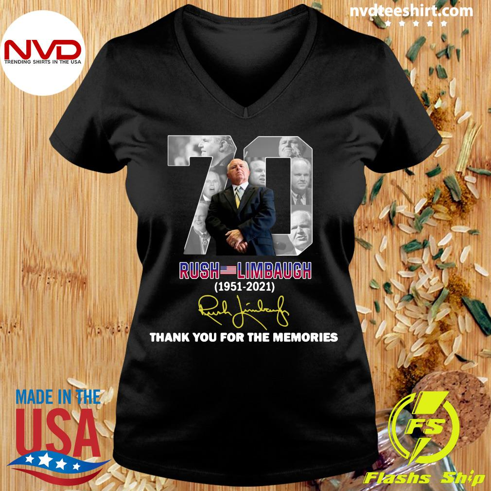 Official Rip Rush Limbaugh 1951 2021 Signature Thank You For The Memories T-s Ladies tee