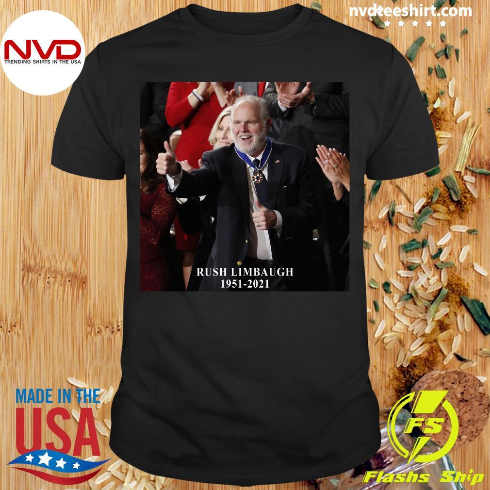 Official Rush Limbaugh Legend 1951 2021 Vintage T-shirt