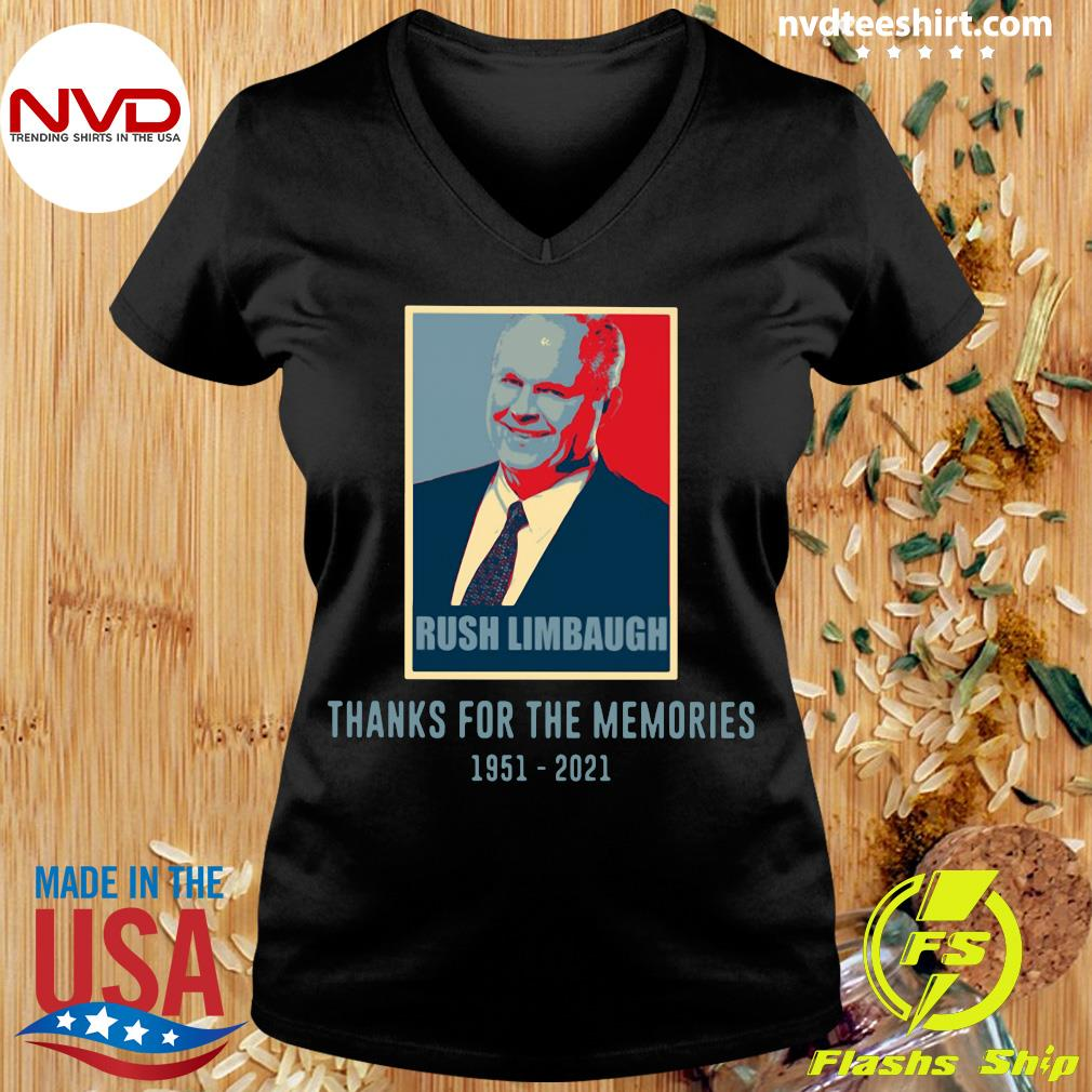 Official Rush Limbaugh Thanks For The Memories 1951 2021 T-s Ladies tee