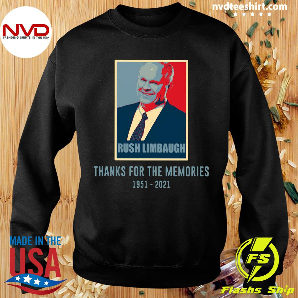 Official Rush Limbaugh Thanks For The Memories 1951 2021 T-s Sweater