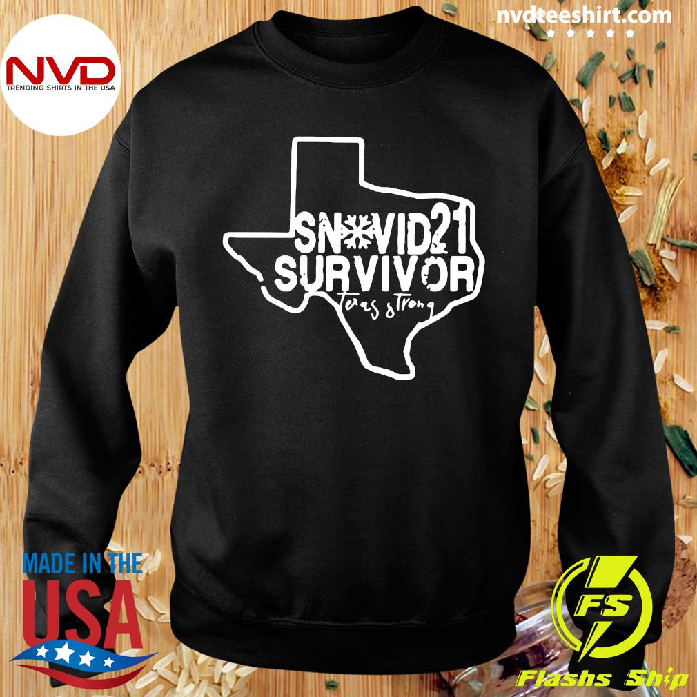 Official Snovid 2021 Survivor Texas Strong T-s Sweater
