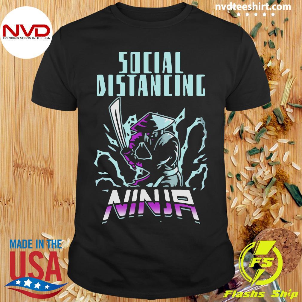 Official Social Distancing Ninja Design Trend T-shirt