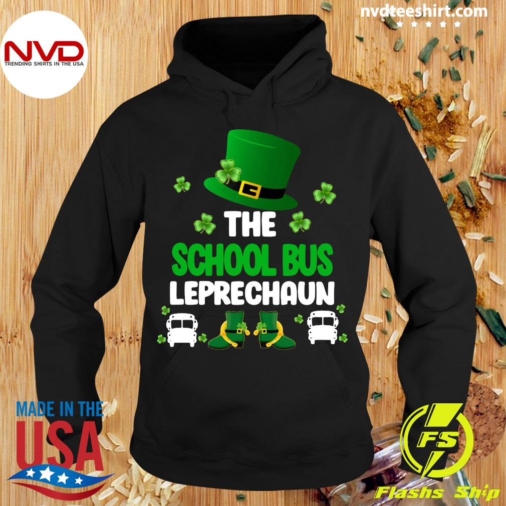 Official St Patrick's Day The School Bus Leprechaun T-s Hoodie