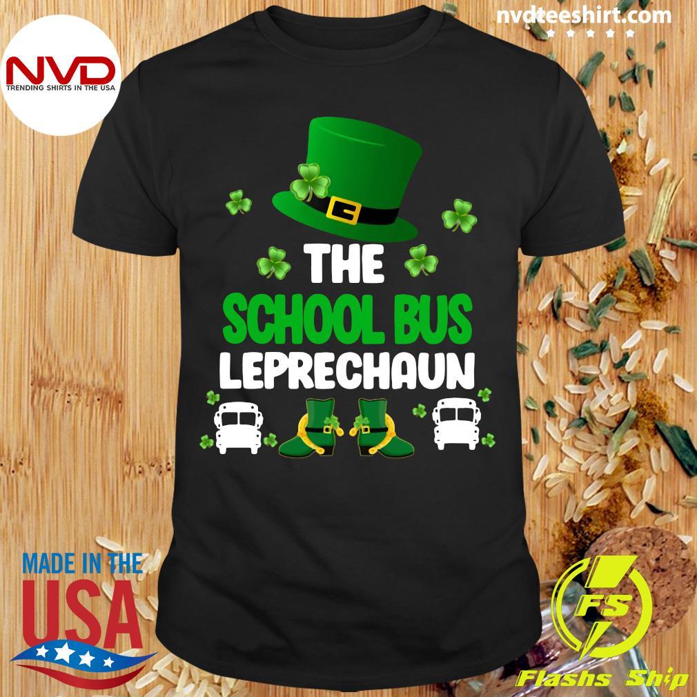 Official St Patrick's Day The School Bus Leprechaun T-shirt