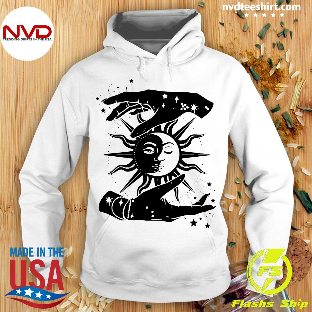 Official Sun And Moon Hands Tarot Card Style T-s Hoodie