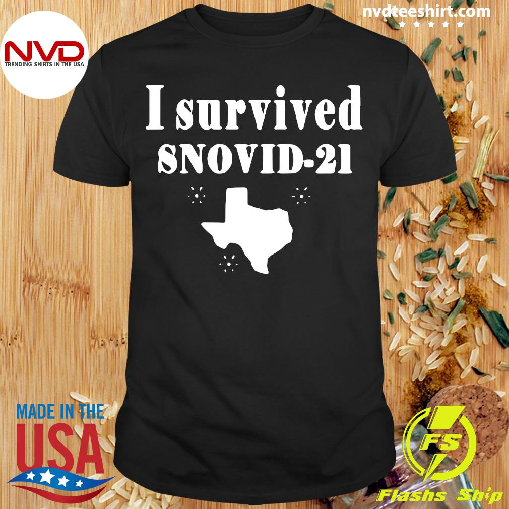 Official Texas I Survived Snovid 2021 T-shirt