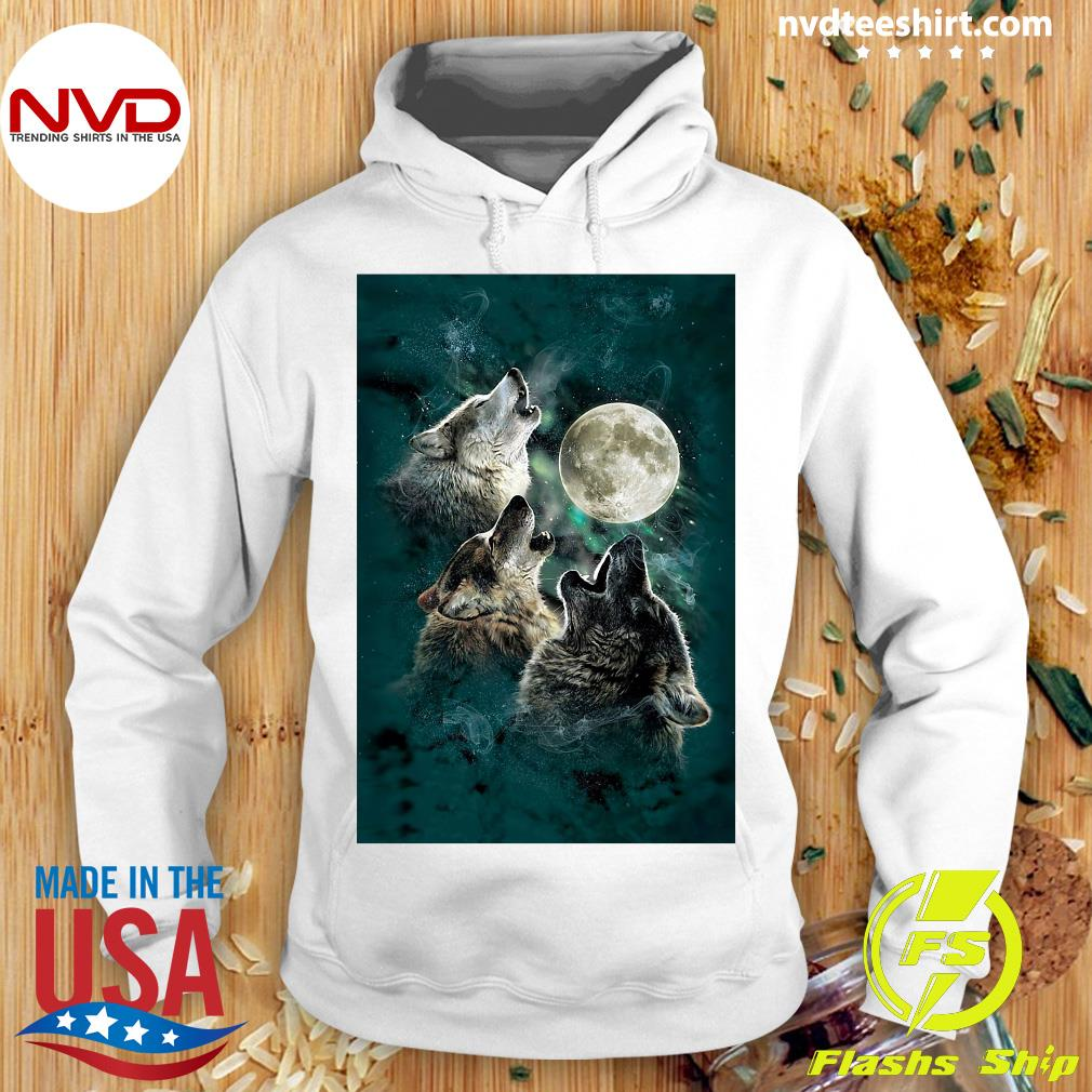 Official The Mountain Men's Three Wolf And Moon T-s Hoodie