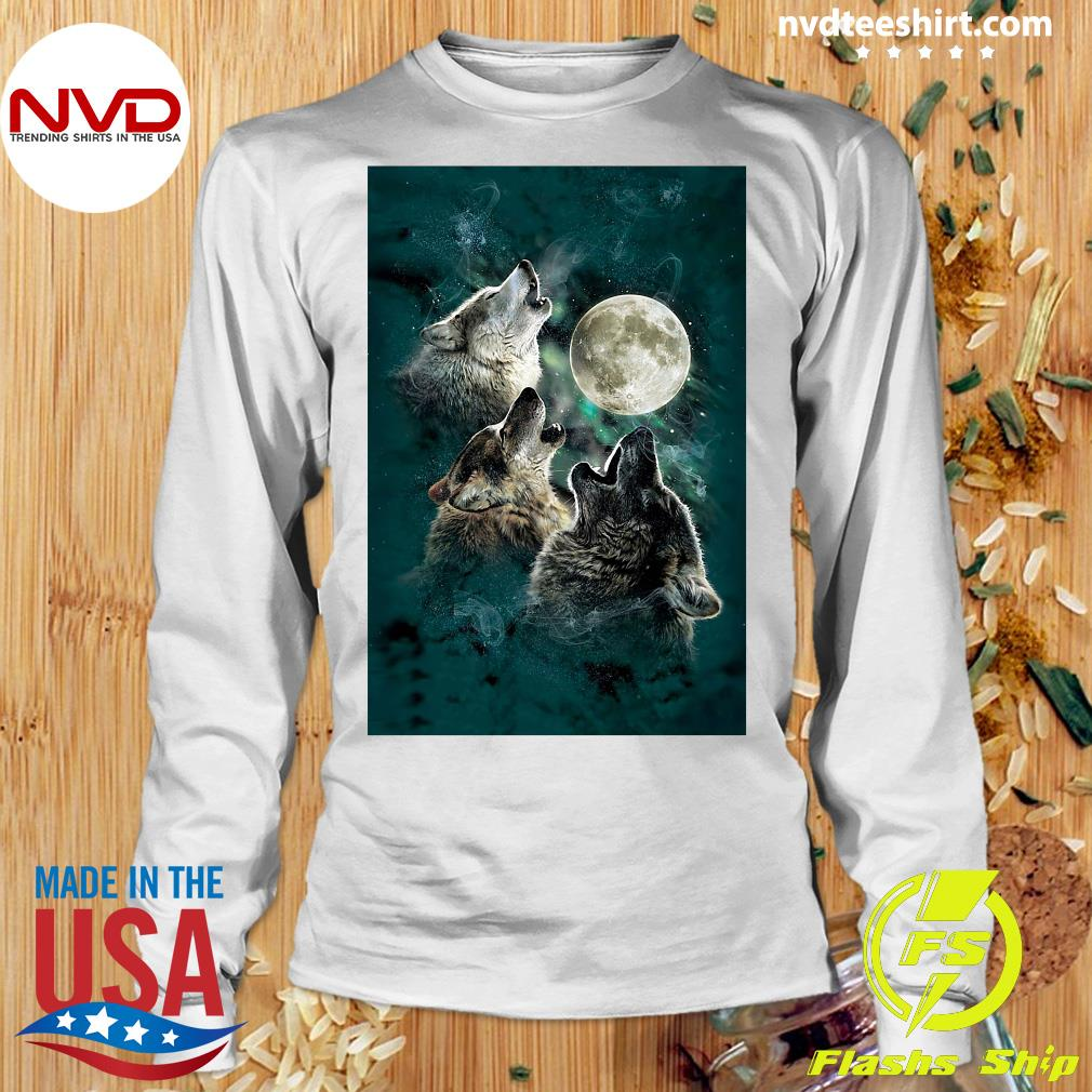 Official The Mountain Men's Three Wolf And Moon T-s Longsleeve