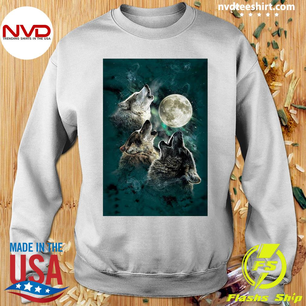 Official The Mountain Men's Three Wolf And Moon T-s Sweater