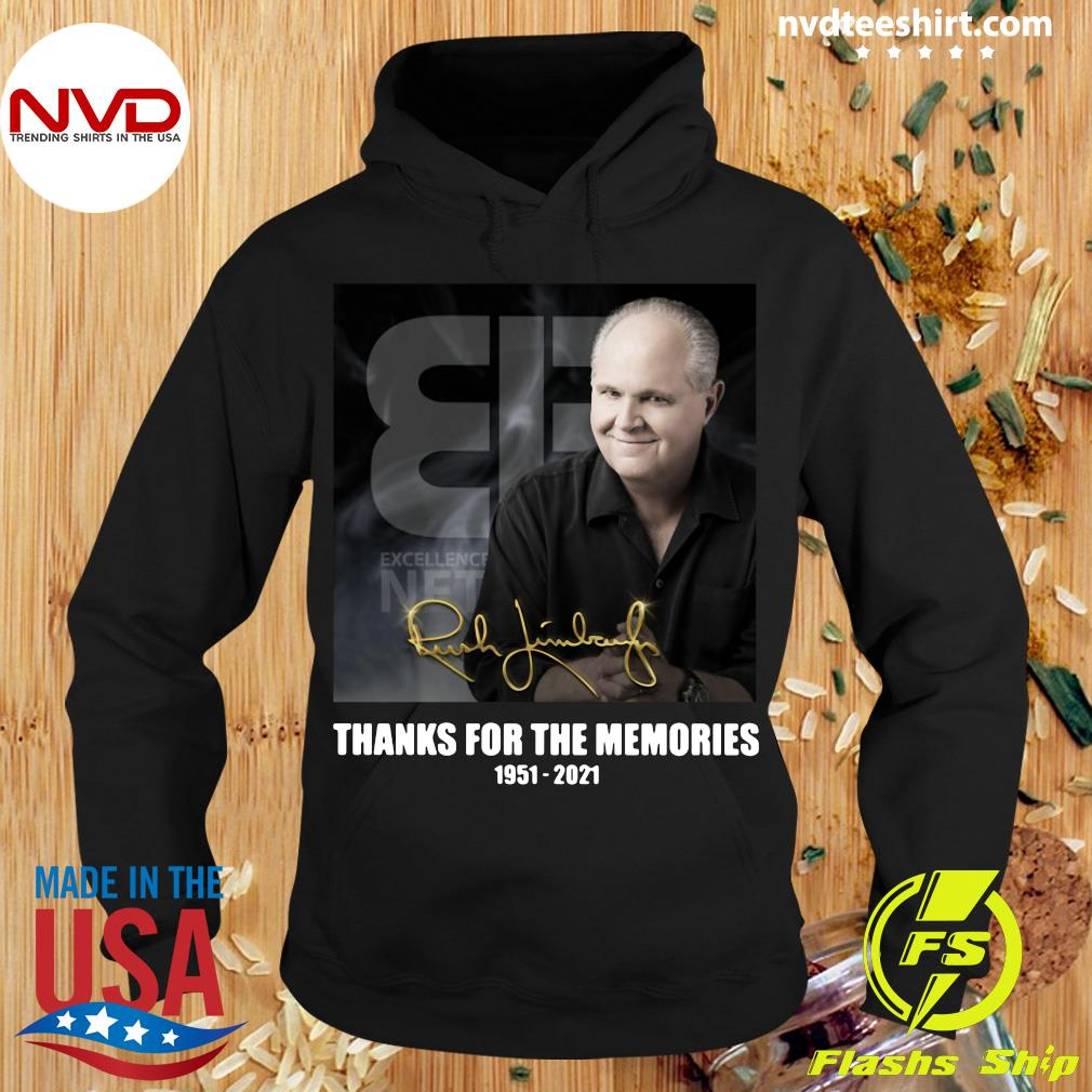 Official The Rush Limbaugh Signature Thanks For The Memories 1951 2021 T-s Hoodie