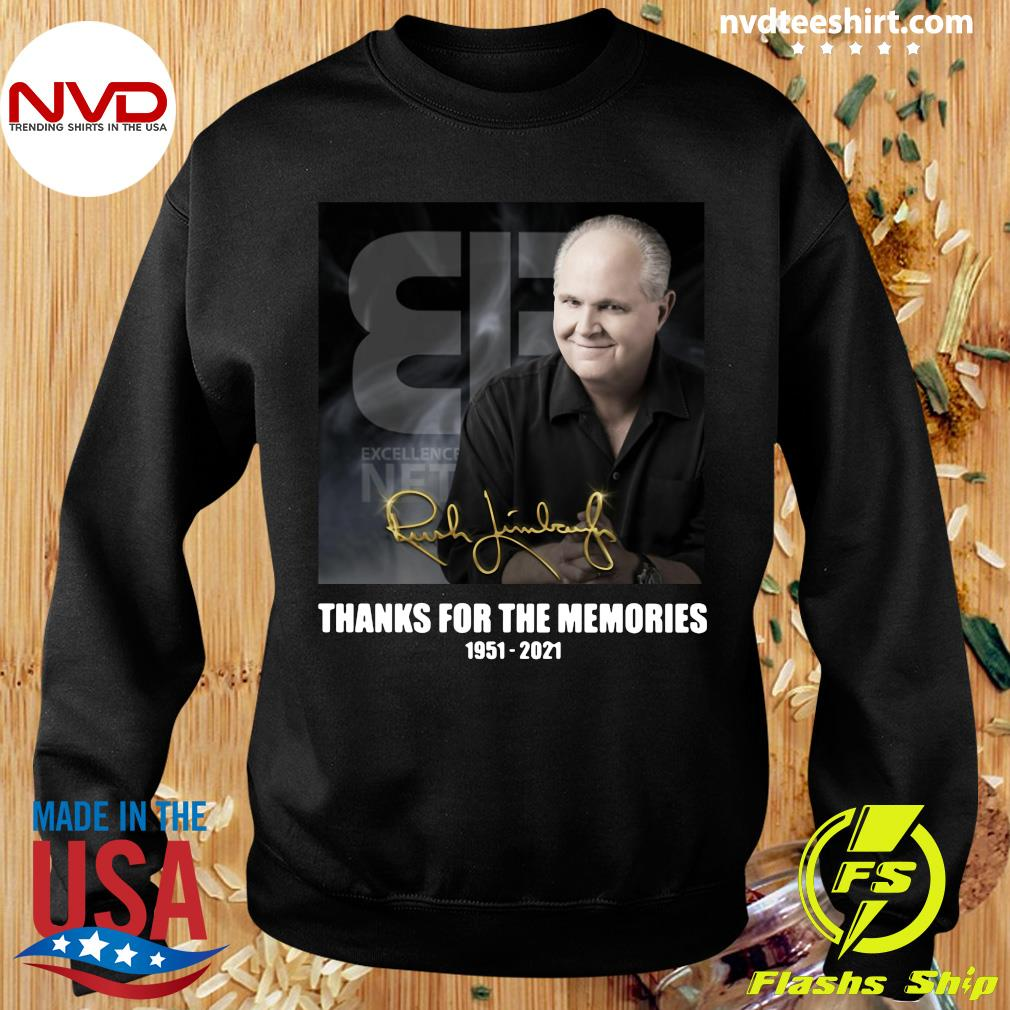 Official The Rush Limbaugh Signature Thanks For The Memories 1951 2021 T-s Sweater