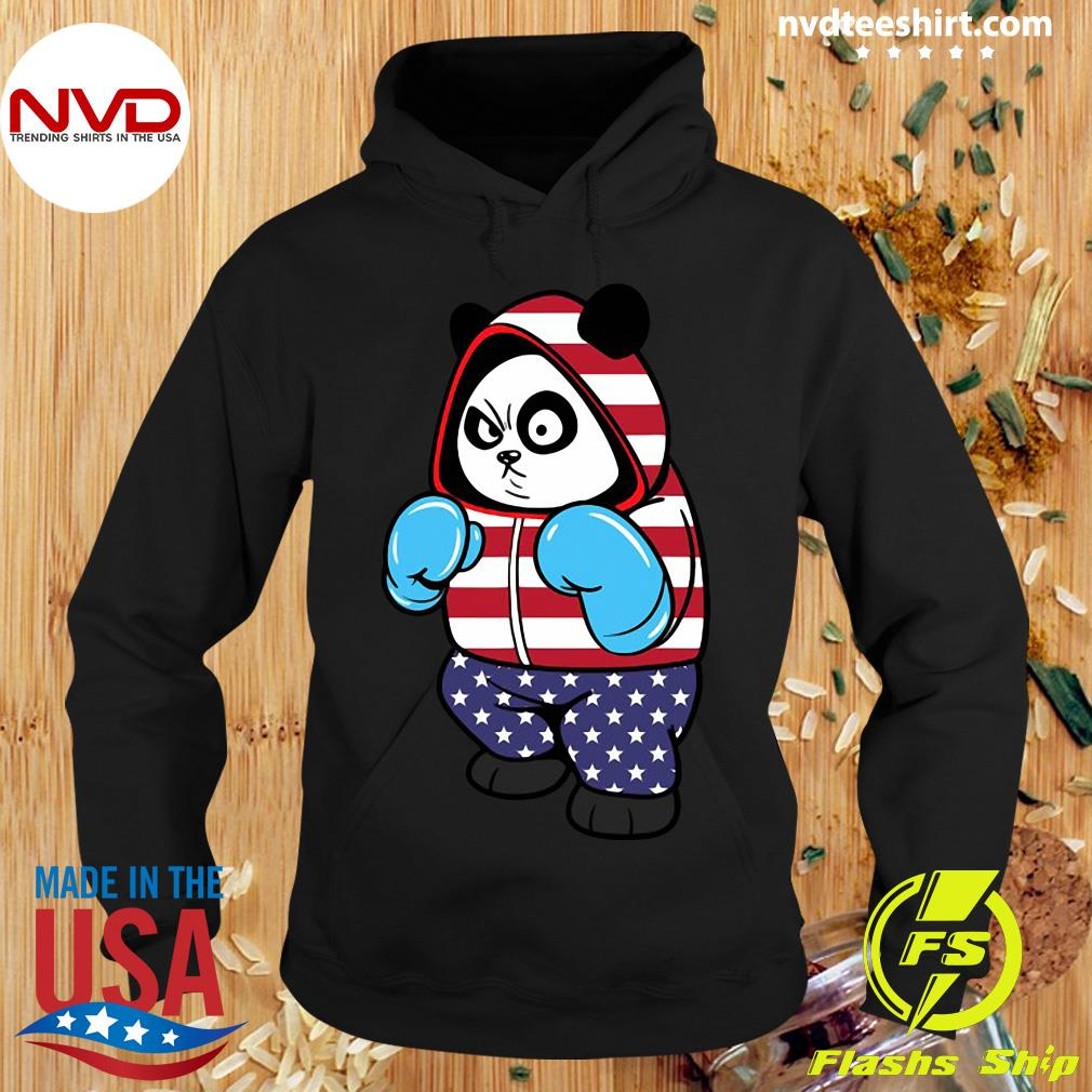 Official USA United States Boxing Panda Bear T-s Hoodie