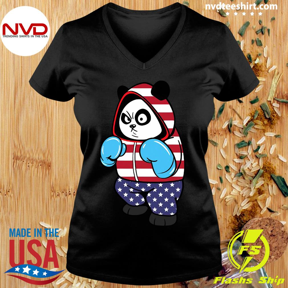 Official USA United States Boxing Panda Bear T-s Ladies tee