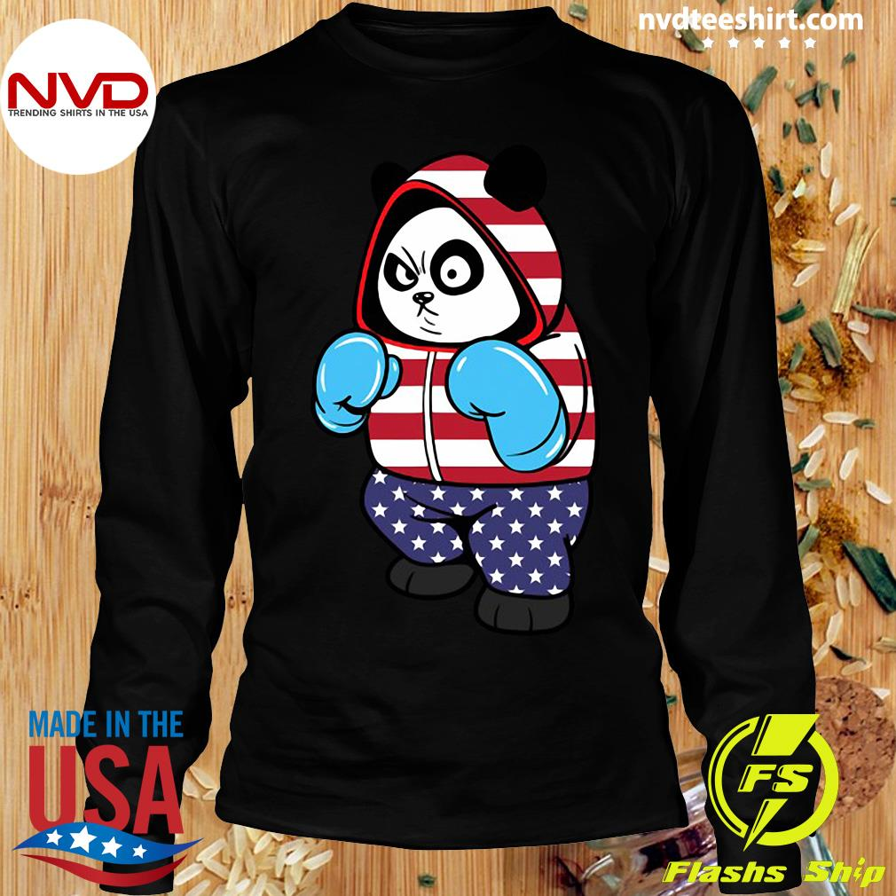 Official USA United States Boxing Panda Bear T-s Longsleeve