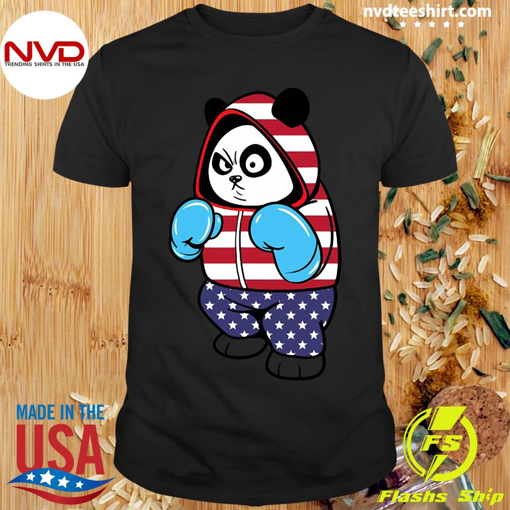 Official USA United States Boxing Panda Bear T-shirt