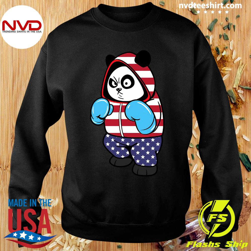 Official USA United States Boxing Panda Bear T-s Sweater