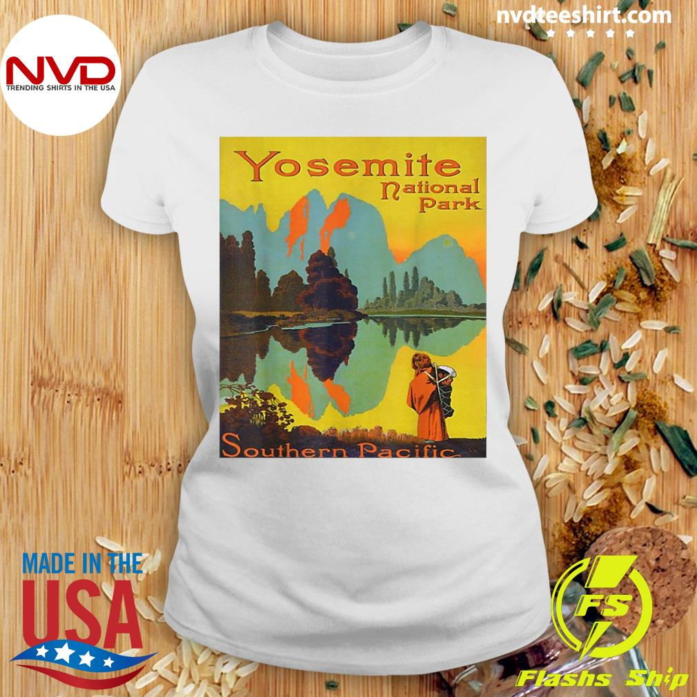 Official Yosemite National Park Southern Pacific Hiking T-s Ladies tee