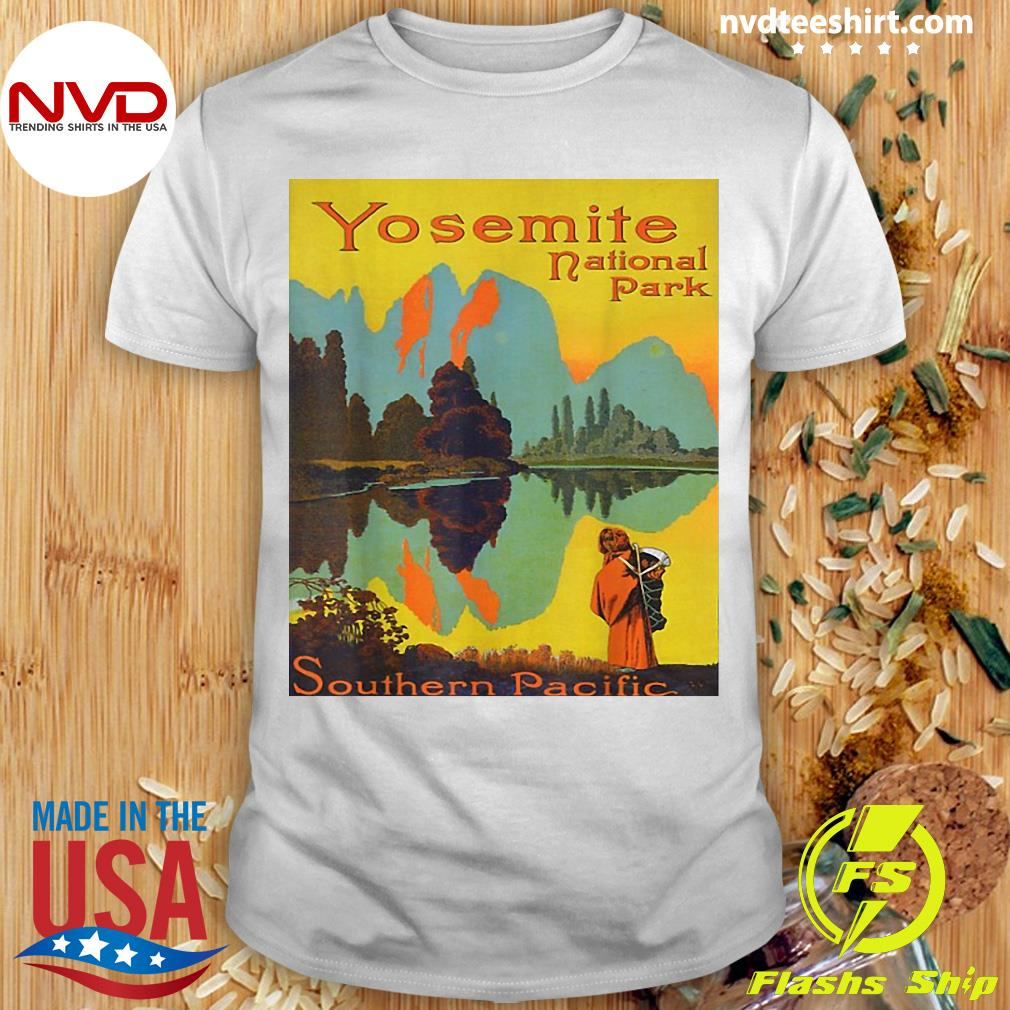 Official Yosemite National Park Southern Pacific Hiking T-shirt