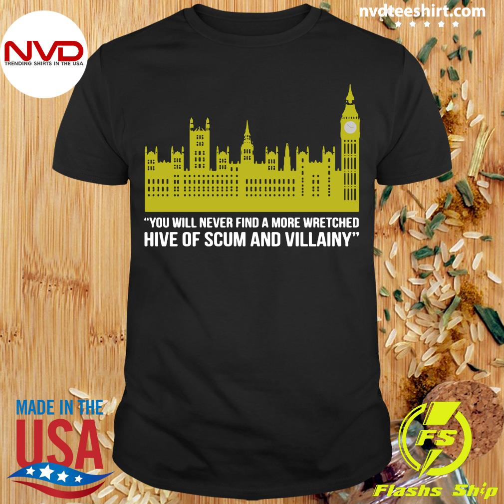 Official You Will Never Find A More Wretched Hive Of Scum And Villainy T-shirt