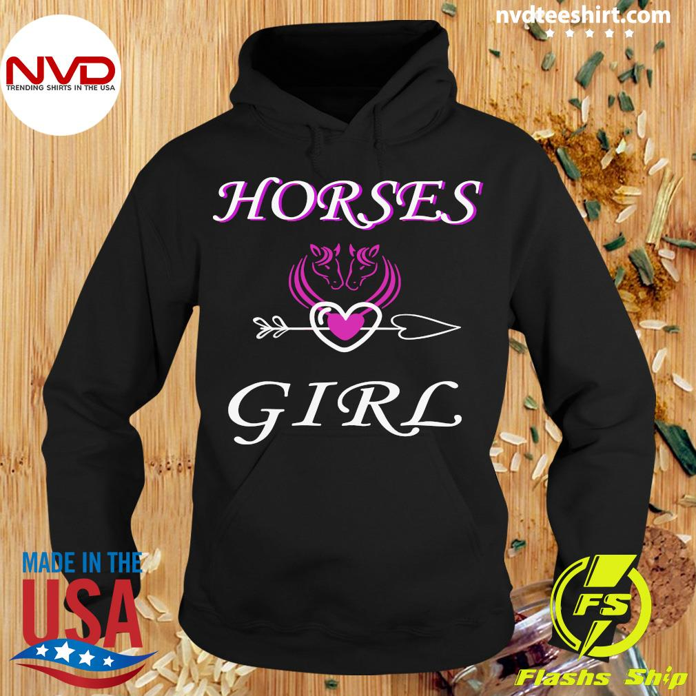 Funny Horses Love Girl Riding Cowgirl Ranch Love My Horseback T-s Hoodie