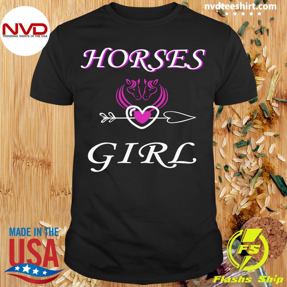 Funny Horses Love Girl Riding Cowgirl Ranch Love My Horseback T-shirt