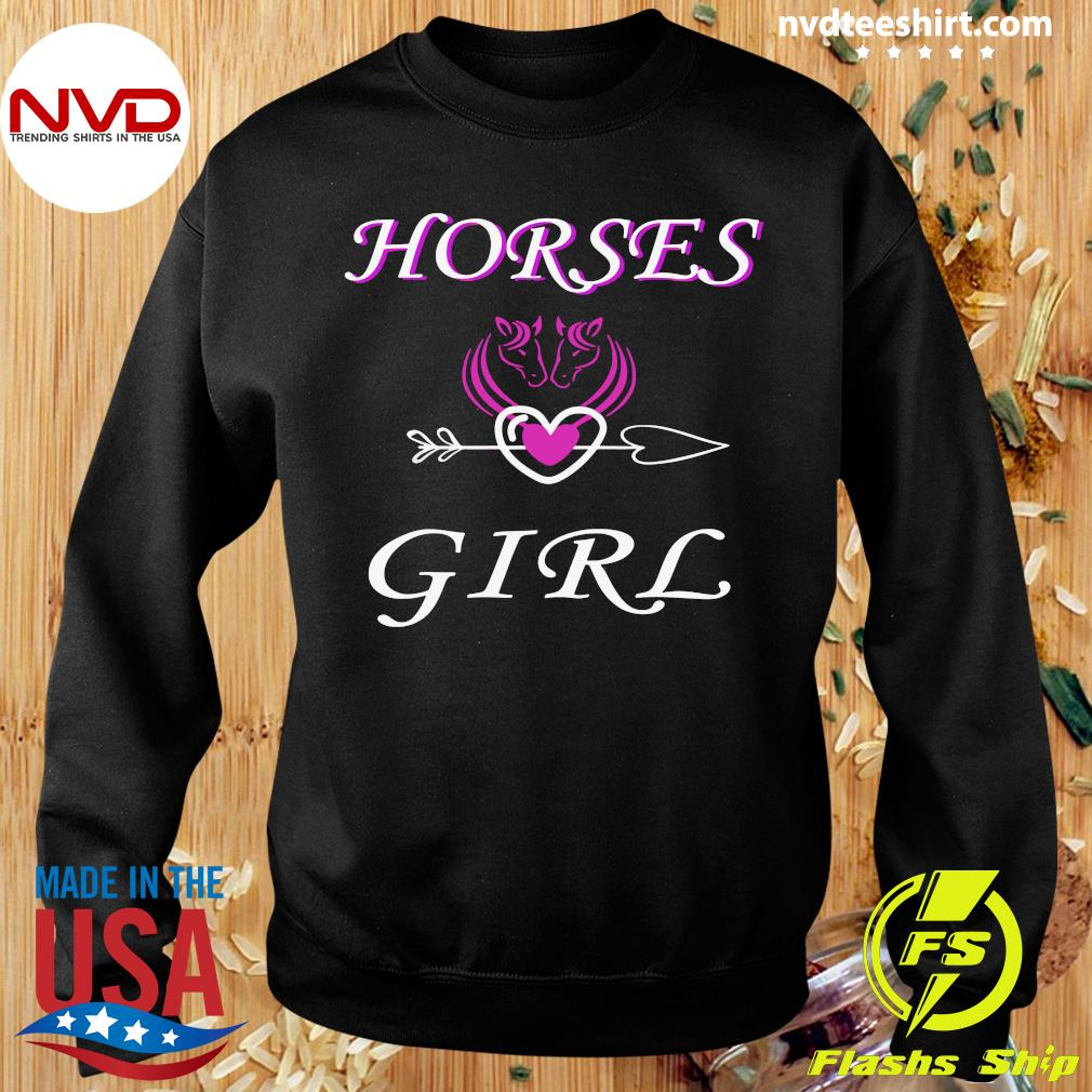 Funny Horses Love Girl Riding Cowgirl Ranch Love My Horseback T-s Sweater