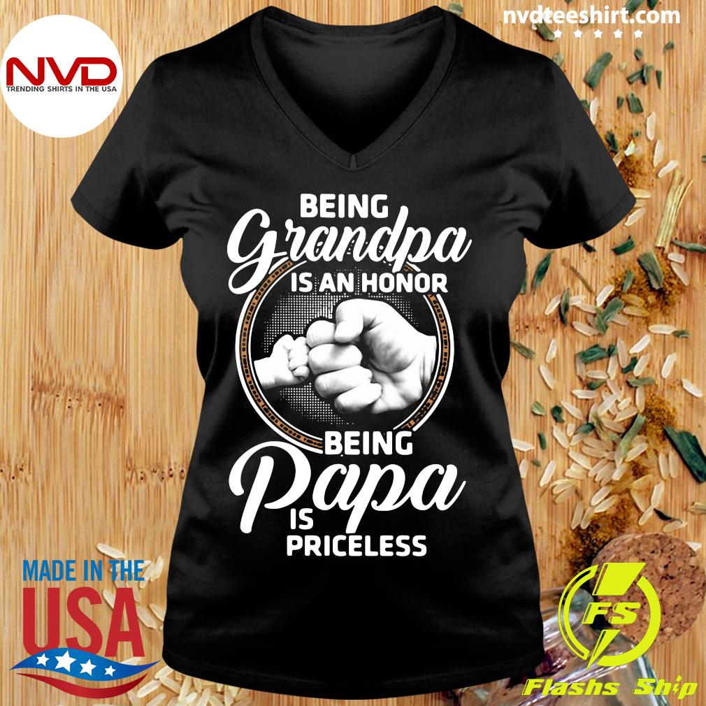 Good Being Grandpa Is An Honor Being Papa is Priceless Patrick's Day T-s Ladies tee