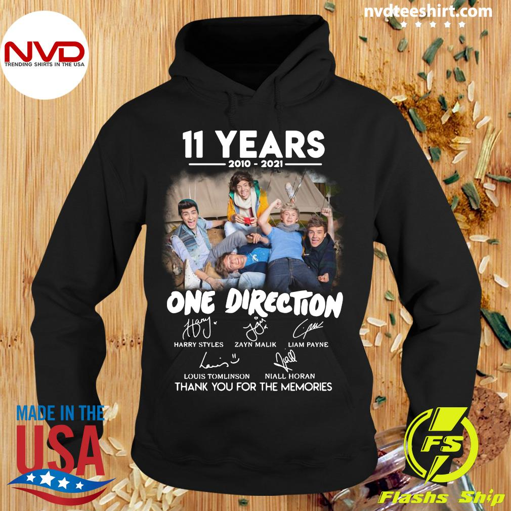 Official 11 Years 2010 2021 One Direction Signatures Thank You For The Memories T-s Hoodie