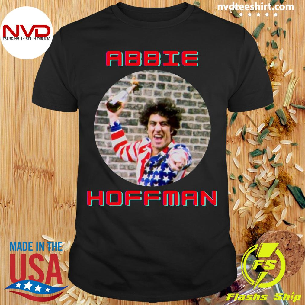 Official Abbie Hoffman In His American Flag T-shirt