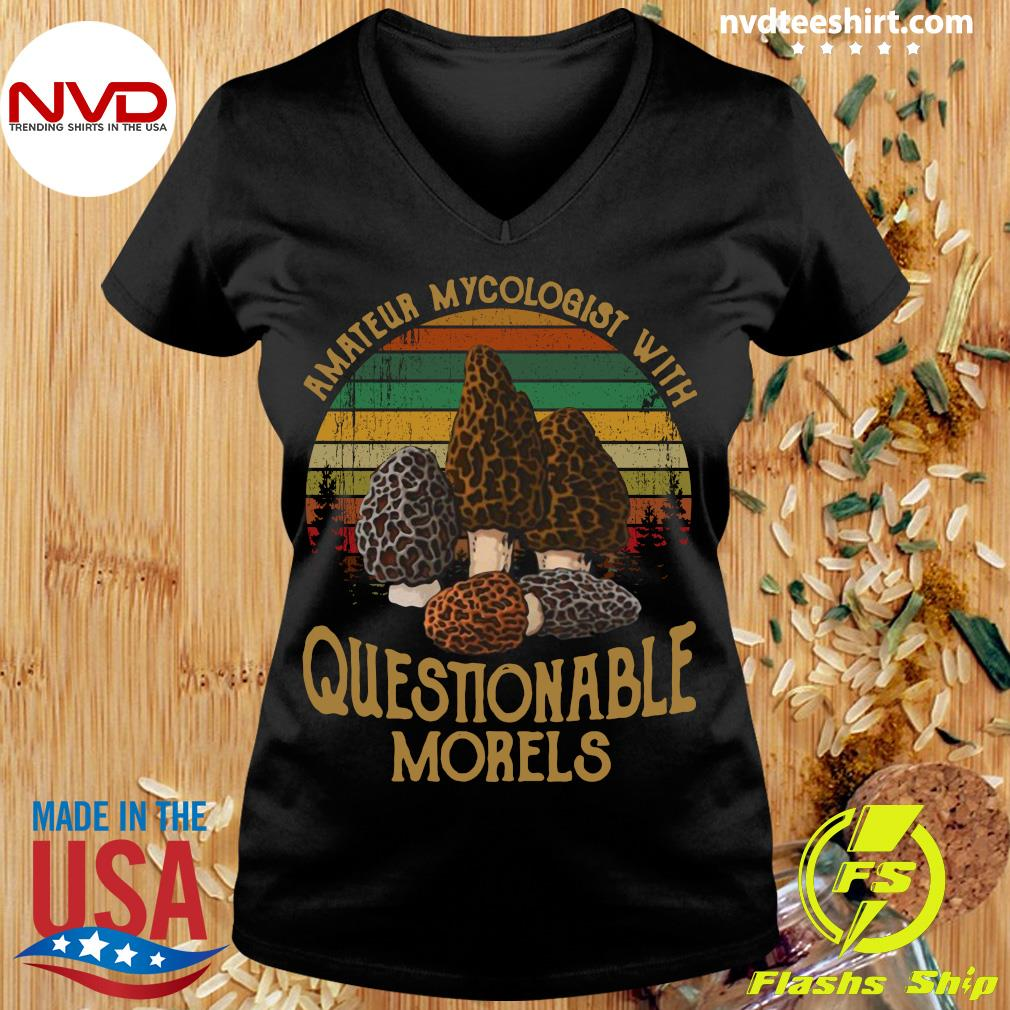 Official Amateur Mycologist With Questionable Morels Vintage Retro T-s Ladies tee