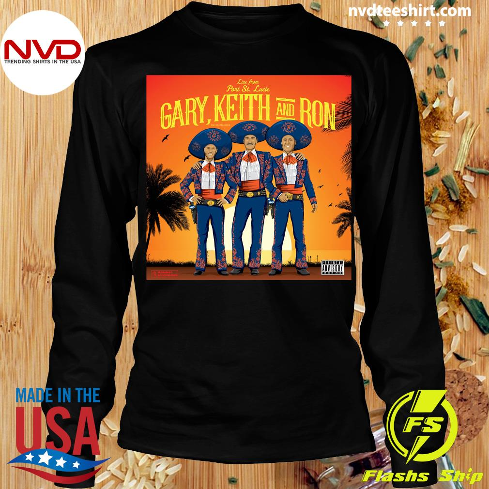 Official Athlete Live From Part St. Lucia Gary Keith And Ron Vintage T-s Longsleeve