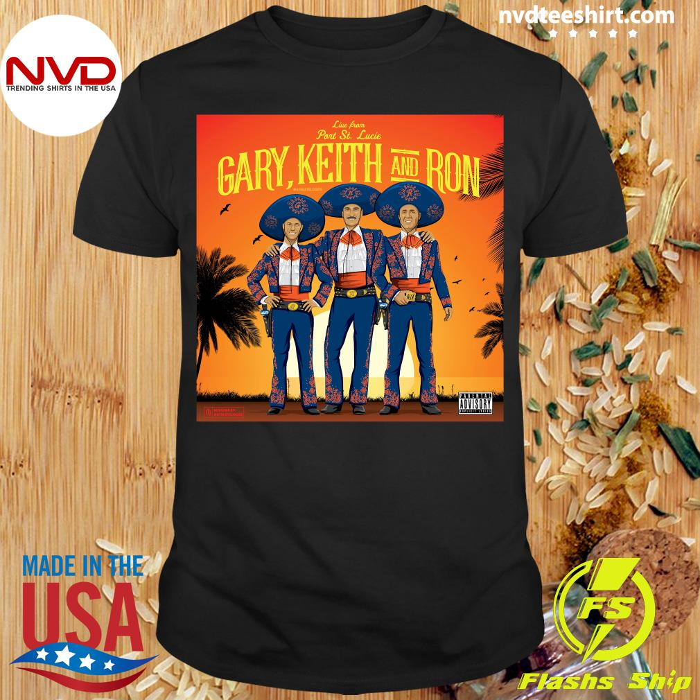 Official Athlete Live From Part St. Lucia Gary Keith And Ron Vintage T-shirt