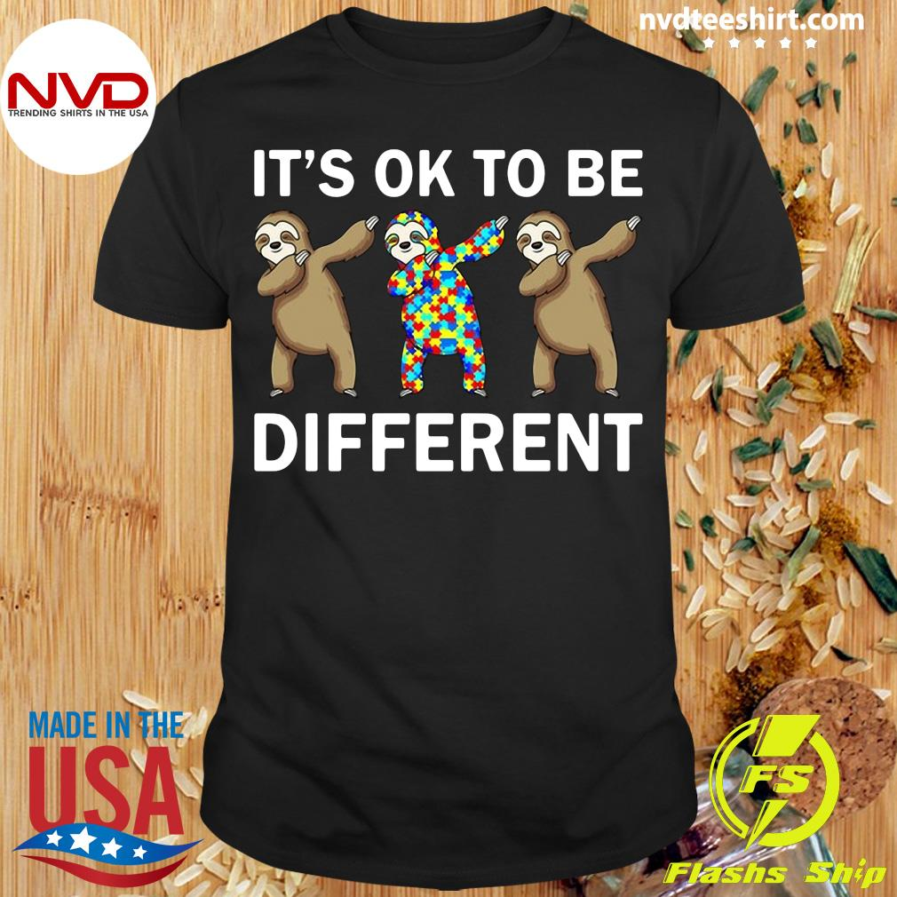 Official Autism Beer It's Ok To Be Different T-shirt