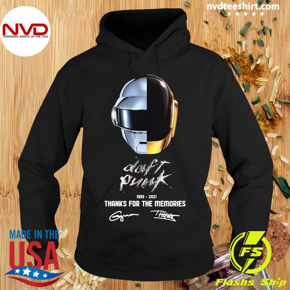 Official Daft Punk 1993 2021 Thank You For The Memories Signatures T-s Hoodie