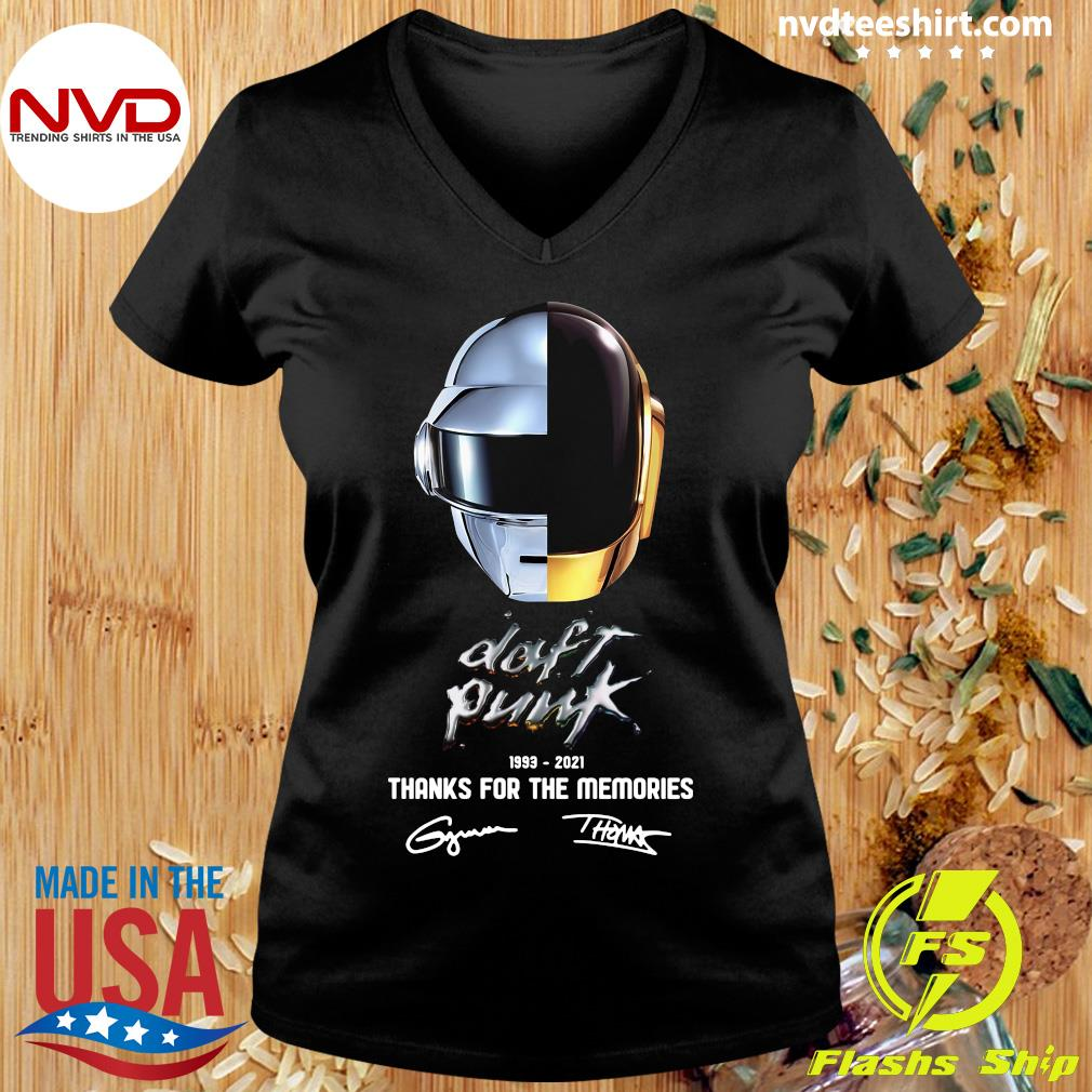 Official Daft Punk 1993 2021 Thank You For The Memories Signatures T-s Ladies tee