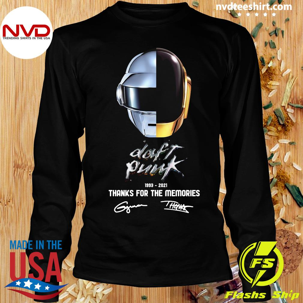 Official Daft Punk 1993 2021 Thank You For The Memories Signatures T-s Longsleeve