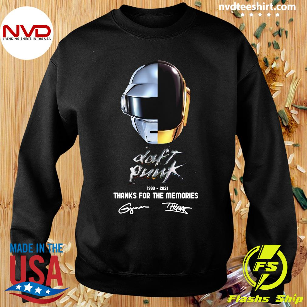 Official Daft Punk 1993 2021 Thank You For The Memories Signatures T-s Sweater