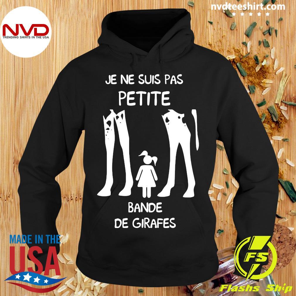 Official Je Ne Suis Pas Petite Bande De Girafes T-s Hoodie