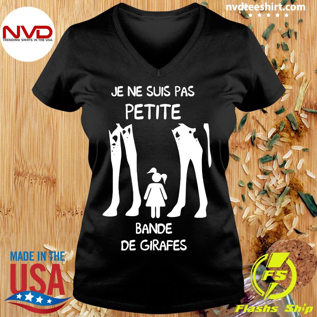 Official Je Ne Suis Pas Petite Bande De Girafes T-s Ladies tee