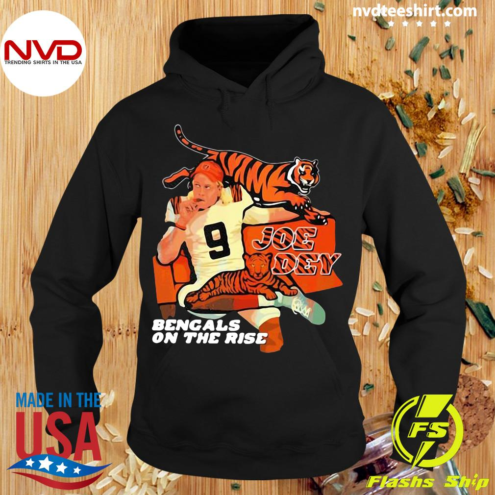 Official Joe Dey Bengals On The Rise Football T-s Hoodie