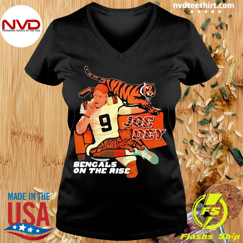 Official Joe Dey Bengals On The Rise Football T-s Ladies tee