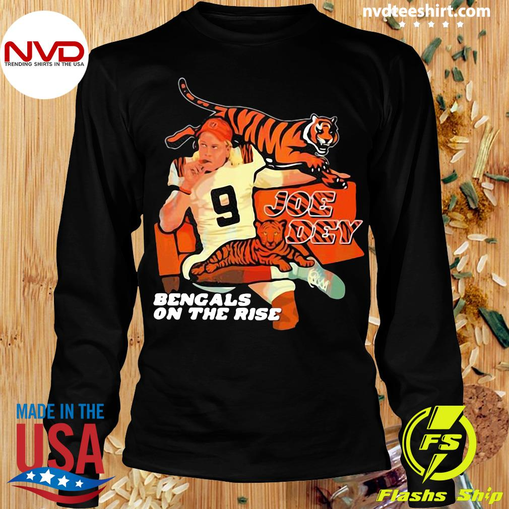 Official Joe Dey Bengals On The Rise Football T-s Longsleeve