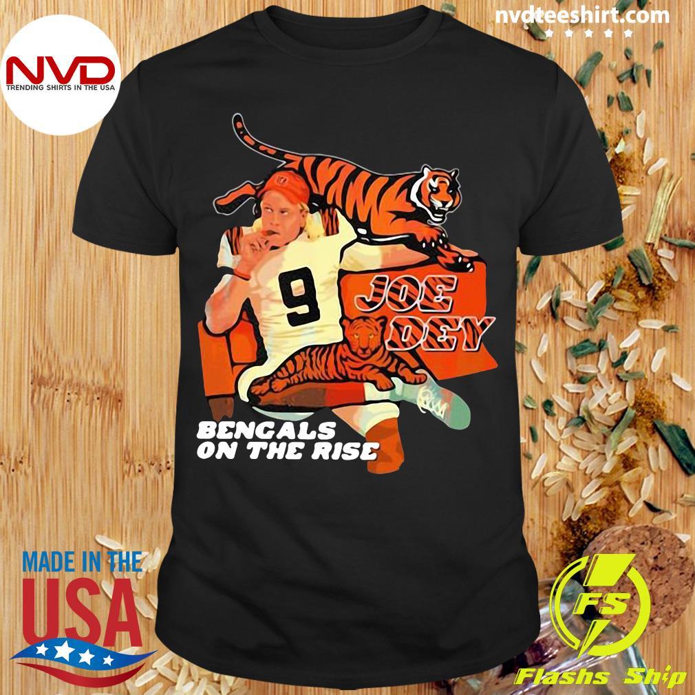 Official Joe Dey Bengals On The Rise Football T-shirt