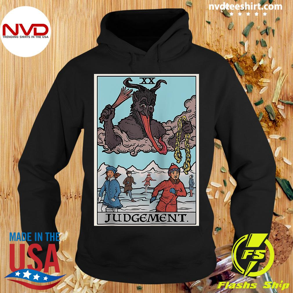 Official Krampus Judgement Tarot Card Funny Christmas Gothi T-s Hoodie