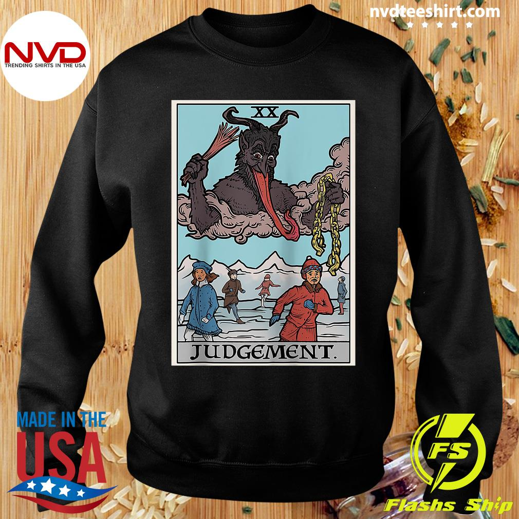 Official Krampus Judgement Tarot Card Funny Christmas Gothi T-s Sweater