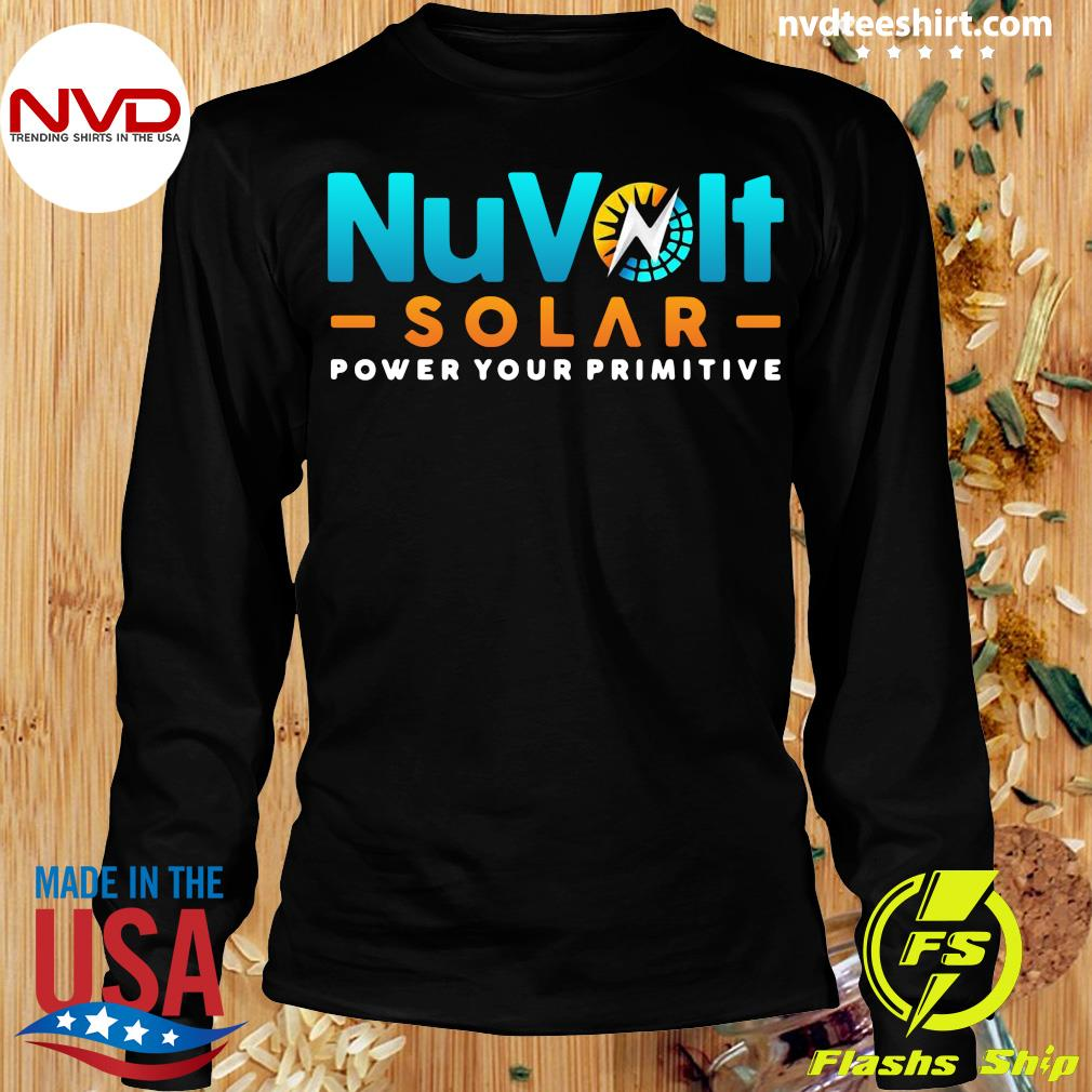 Official Nuvolt Solar Power Your Primitive T-s Longsleeve