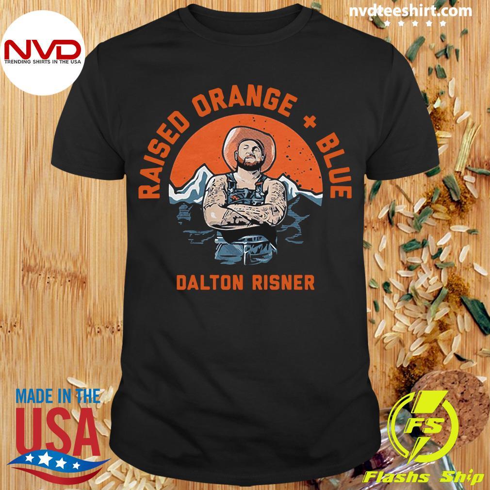 Official Raised Orange And Blue Dalton Risner T-shirt