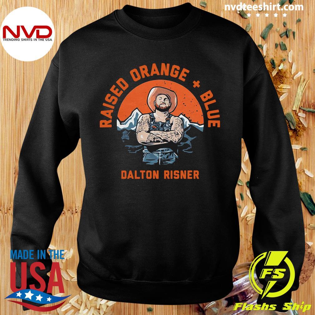 Official Raised Orange And Blue Dalton Risner T-s Sweater